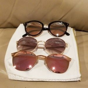 😎Bundle of THREE Awesome & New Women's Sunglasses